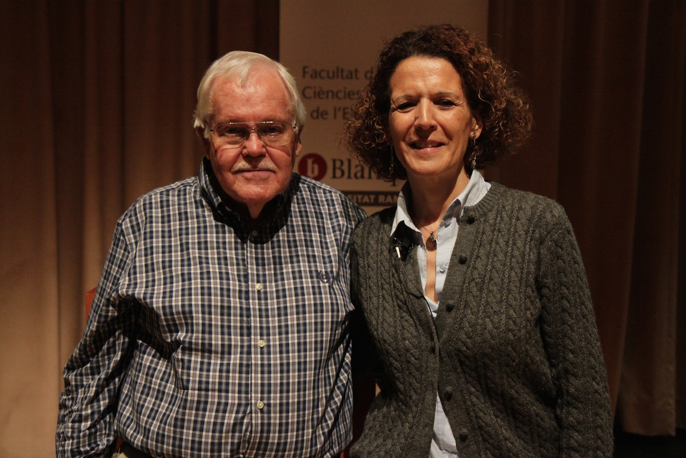 Dr. William Worden, grief counselor & writer y Alba Payàs. 2016